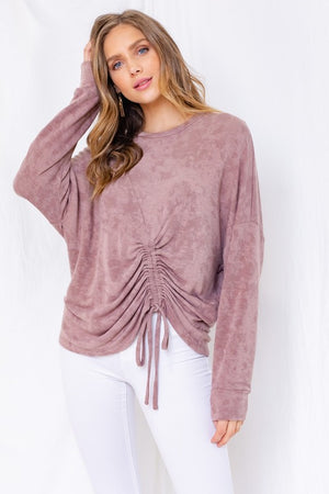 Mary's Mauve Tie-Dye Top