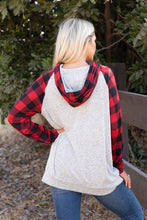 Load image into Gallery viewer, Mandi's Buffalo Plaid Hoodie