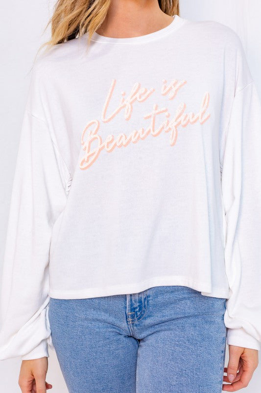 Life is beautiful graphic top