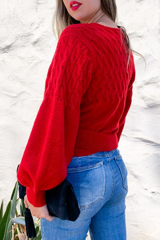 Stunning in Red Sweater