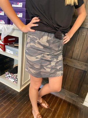 Faith's Camo Skirt