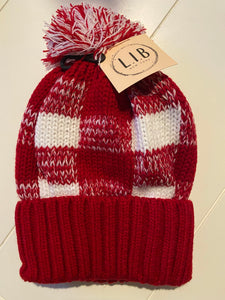 Red & White Checkered Beanie