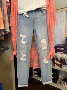 Floral Patch Judy Blue Jeans