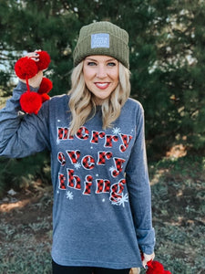 Merry Everything Graphic Top