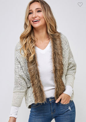 Kailey's Faux Fur Cardigan