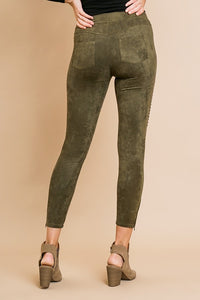 Umgee Suede Motto Leggings