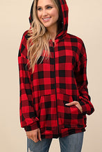 Load image into Gallery viewer, Aria's Plaid Hoodie
