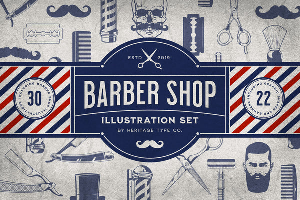 Barber Shop - Illustration Set