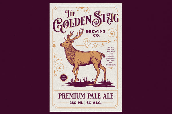 Stag – Label Template