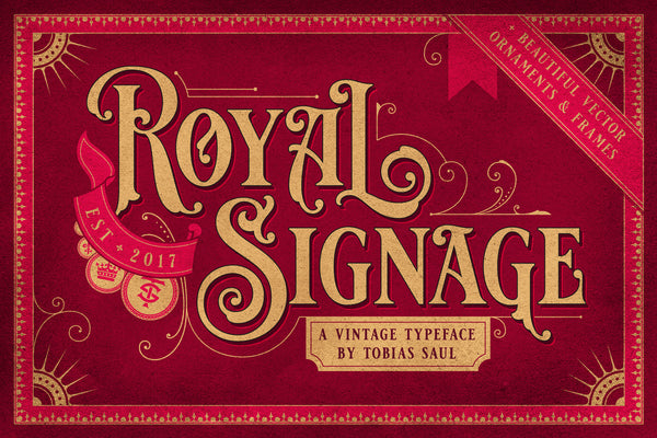 Royal Signage Typeface