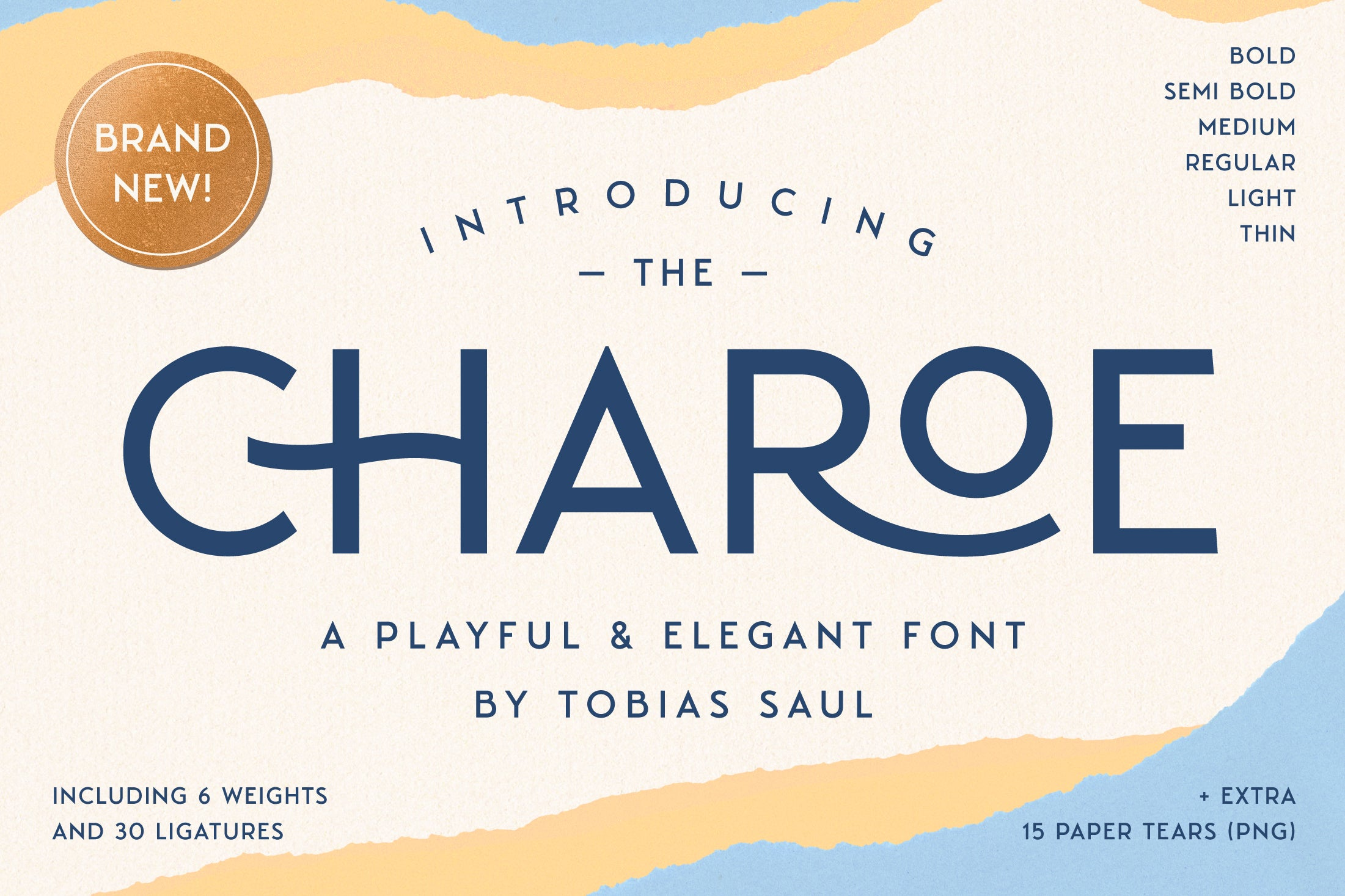 Charoe Typeface + Extras | Sans Serif by Heritage Type Co