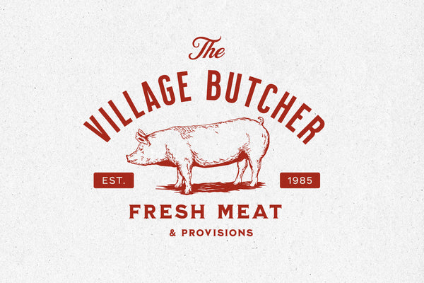 Village Butcher – Logo Template - Heritage Type Co.
