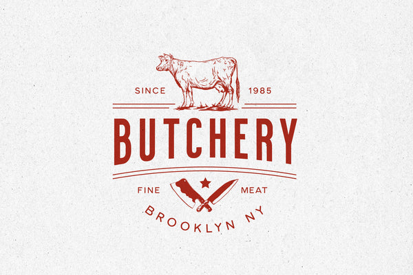 Butchery02 – Logo Template - Heritage Type Co.