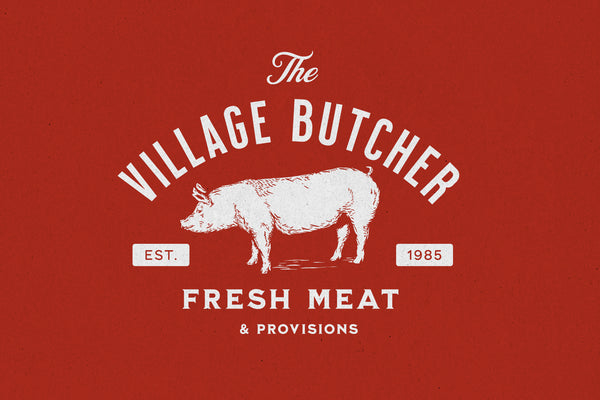 Village Butcher Logo Template - Heritage Type Co.