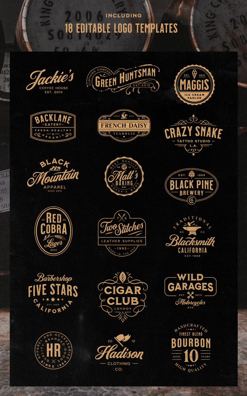 Milkstore Font Collection - Heritage Type Co.