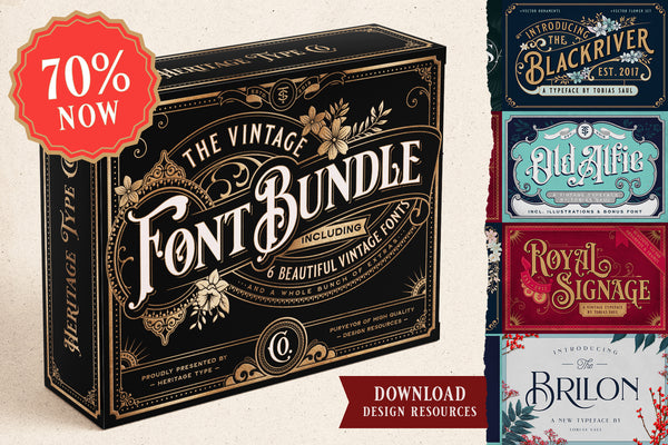 Vintage Font Bundle - Heritage Type Co.