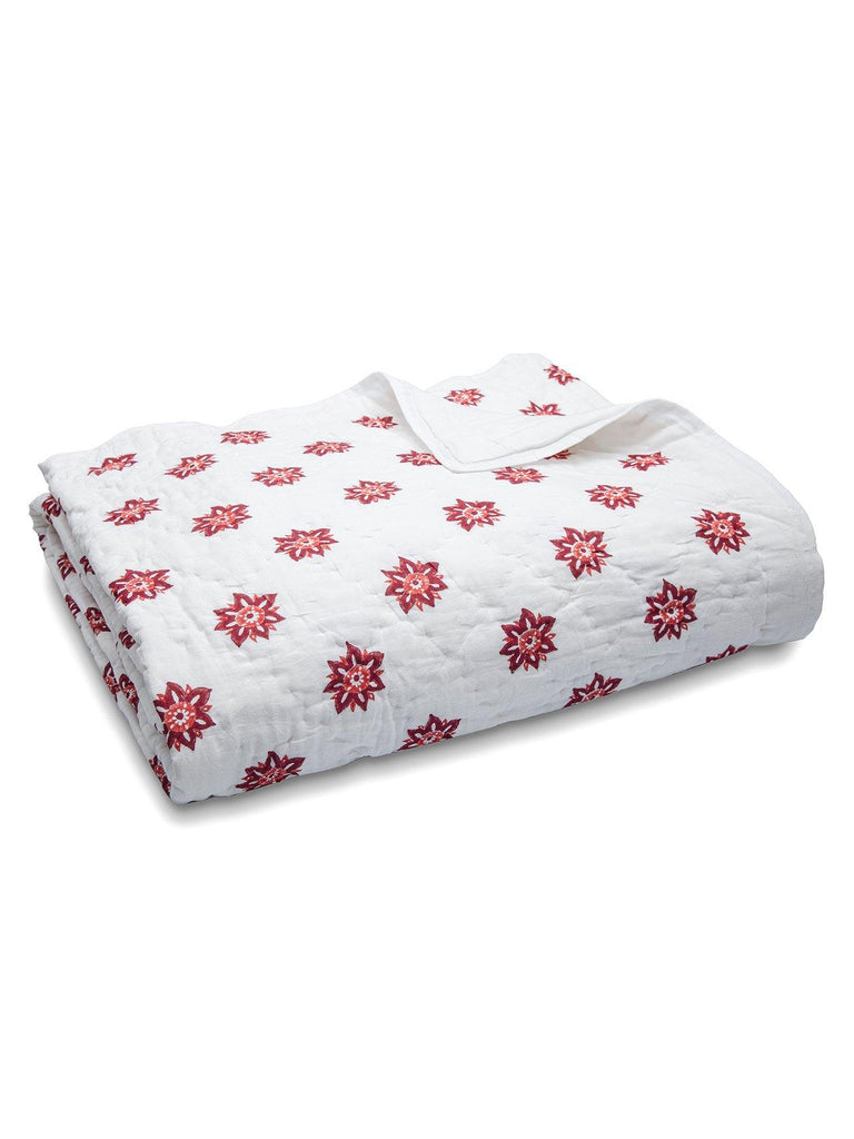 Sitara Cotton Quilt. Soft, lightweight, comfortable and impeccably hand crafted. Constructed from fine breathable cotton voile and filled with pure organic cotton.