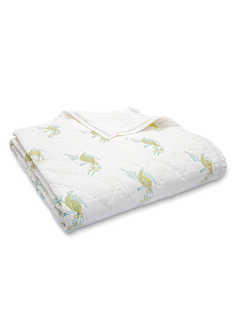 Puff the Mighty Dragon Cotton Quilt. Soft, lightweight, comfortable and impeccably hand crafted. Constructed from fine breathable cotton voile and filled with pure organic cotton.