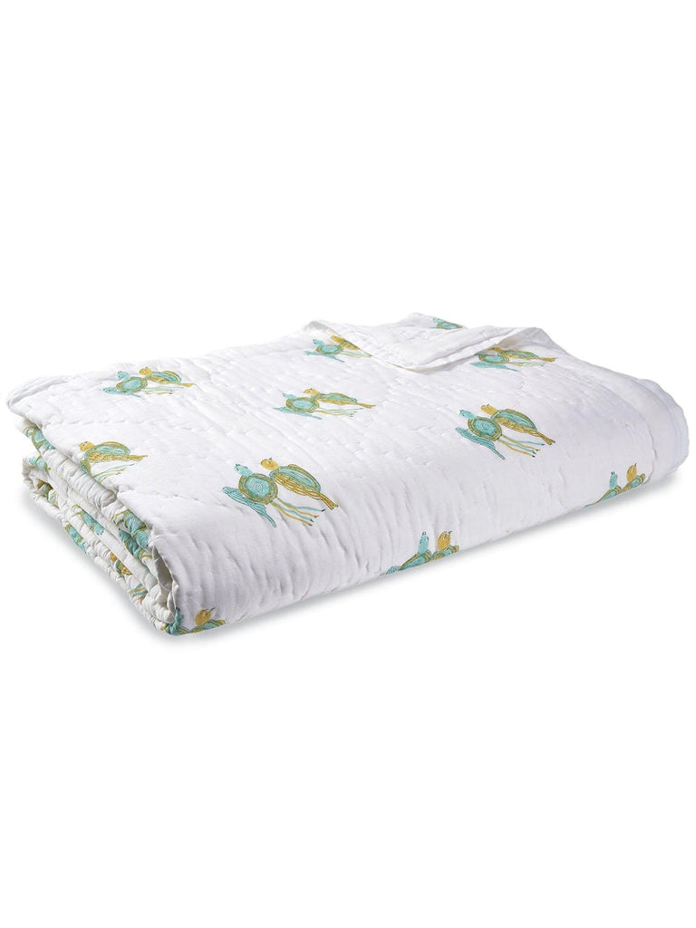 Thelma & Louise Cotton Quilt. Soft, lightweight, comfortable and impeccably hand crafted. Constructed from fine breathable cotton voile and filled with pure organic cotton.