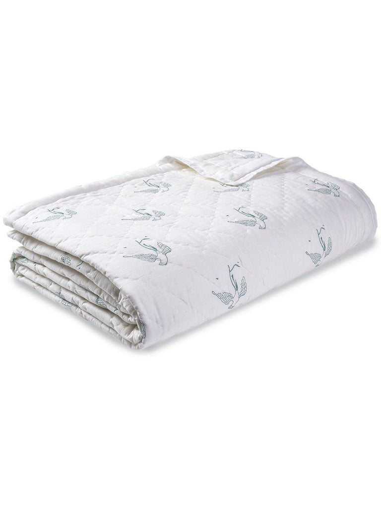 Freya From Falsterboo Cotton Quilt. Soft, lightweight, comfortable and impeccably hand crafted. Constructed from fine breathable cotton voile and filled with pure organic cotton.