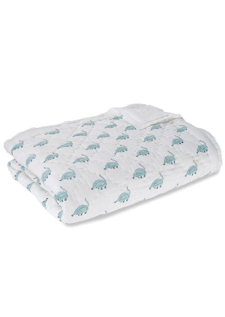 Fat Cat Cotton Quilt. Soft, lightweight, comfortable and impeccably hand crafted. Constructed from fine breathable cotton voile and filled with pure organic cotton.