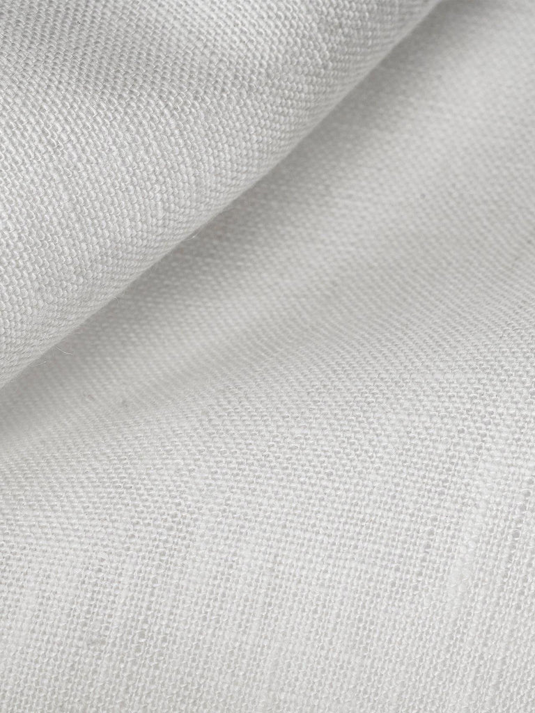 Bombay Linen Fabric. Impeccable crafted solid white Irish mill-made linen in 58-inch width.