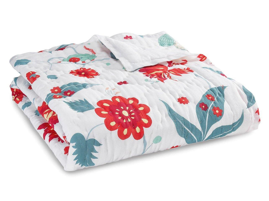 Laila Cotton MulMul Baby Quilt. Soft, lightweight, comfortable and impeccably hand crafted. Constructed from fine breathable cotton voile and filled with pure organic cotton.