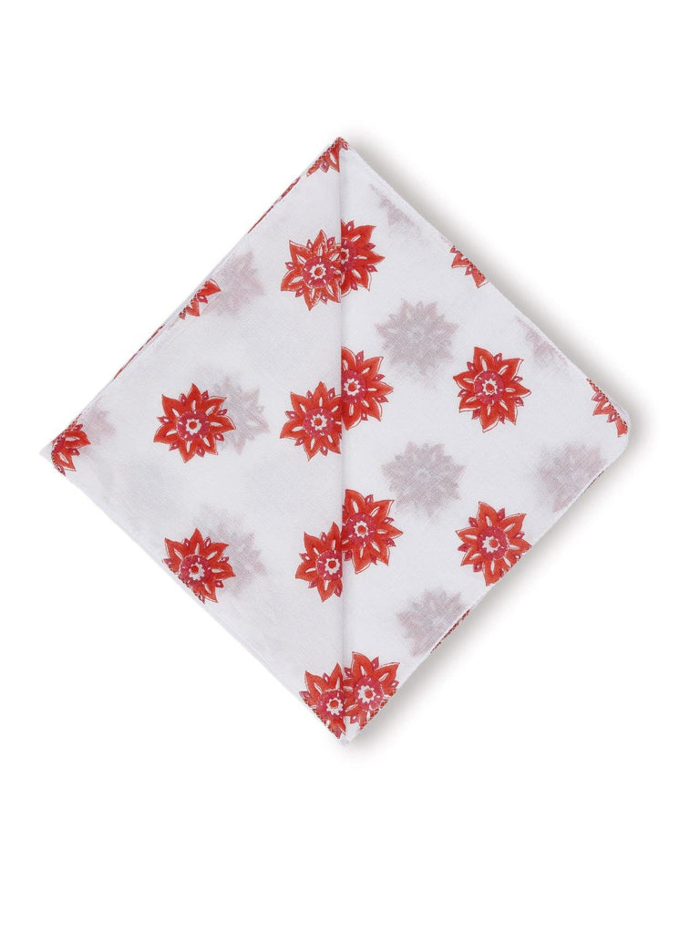 Sitara Bandana. Our bandanas are made from 100 % organic cotton mulul. Soft, durable, breathable and easy to maintain, this funky hand block printed pattern is the perfect compliment to your wardrobe.