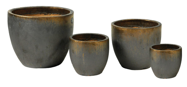 Glazed Egg Pot Bronze S4 D22/48H21/41