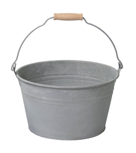 Zinc Old Look Low Bucket D27H15
