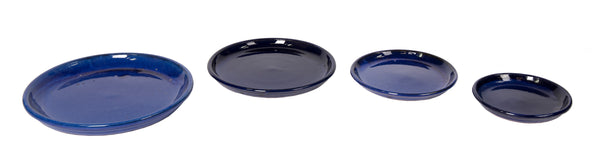 Glazed Saucer Blue S4 D20/34H2,5/4