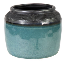 Emma Round Pot Blue D19H13.5
