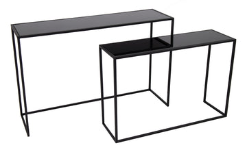 Eton Top Side Table Black S2 L80/100W25/30H54/64