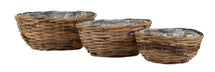 Cubu Oval Wide Basket S3 L23/33W17/24H11/14