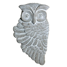 Deko Wallhanger Little Owl Grey L31W18H4