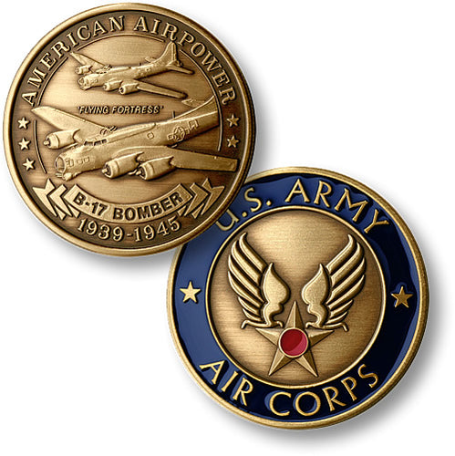 B-17 Flying Fortress Military Challenge Coin