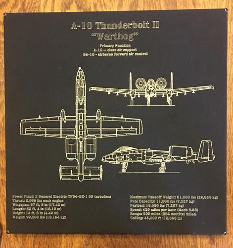 A-10 Warthog Customizable Leatherette Wall Decor Version 1