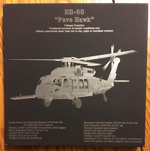 HH-60 Pave Hawk Customizable Leatherette Wall Decor Version 2