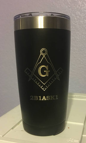 Mason Freemason Customizable 20 oz Tumbler