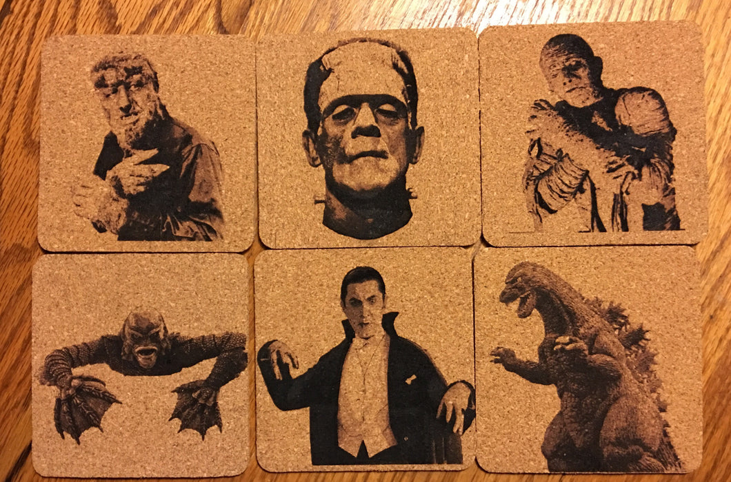 Classic Movie Monsters Coaster Set