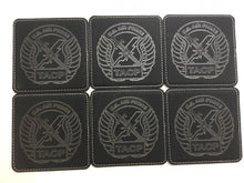 Load image into Gallery viewer, TACP Tactical Air Control Party 6 Leatherette Coasters w/Holder