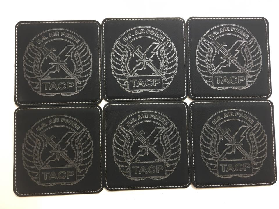 TACP Tactical Air Control Party 6 Leatherette Coasters w/Holder