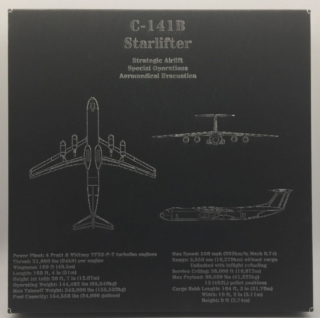 C-141B Starlifter Leatherette Wall Decor