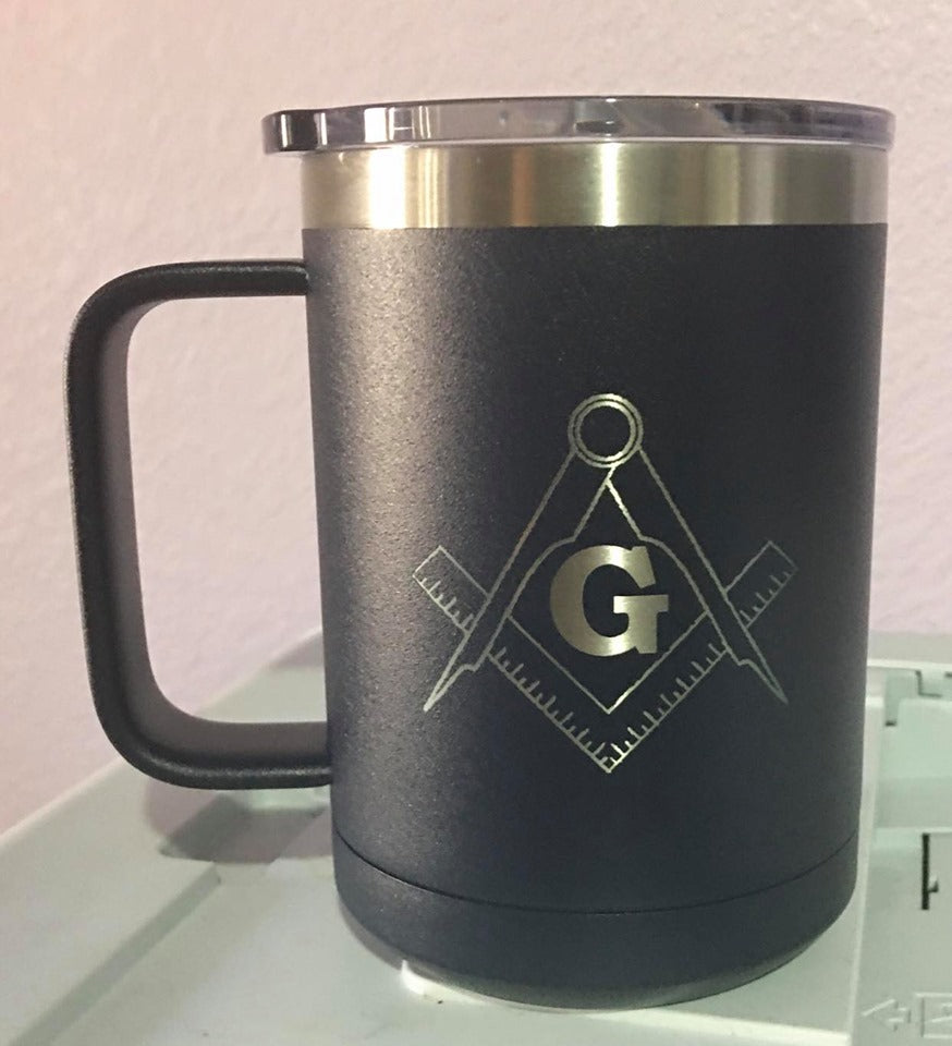 Mason Square and Compass 15 oz Mug Customizable
