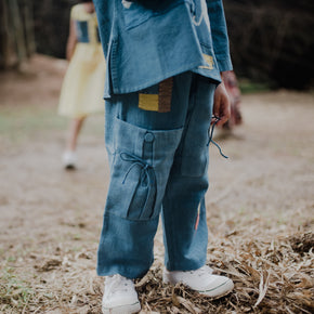 Indigo Botanical Dyed Trouser