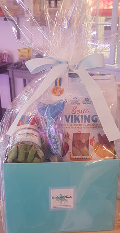 Candy Box with cellofan & ribbons (value $25)