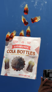 Coke Bottles Package Sugar Free 4 oz