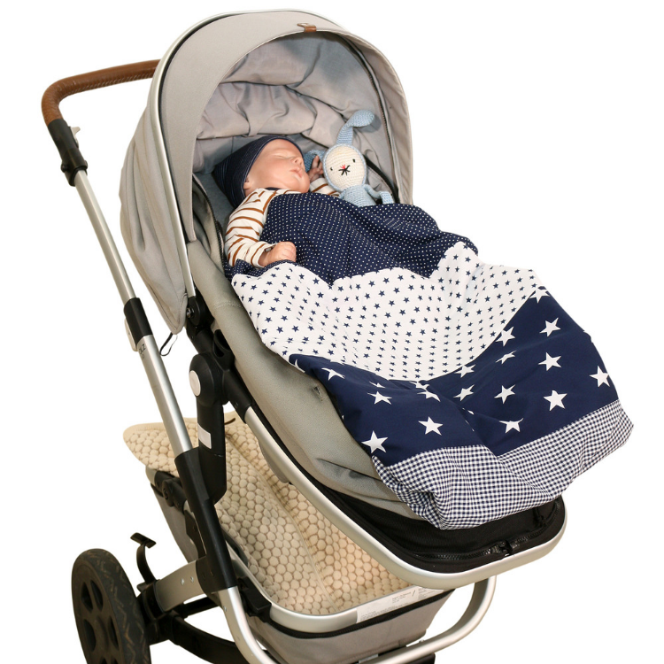 "Baby Blanket & Fleece Blanket 27"" x 39"" - Blue Stars"