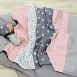 "Baby Blanket & Fleece Blanket 27"" x 39"" - Rose grey"