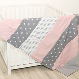 "Baby Blanket & Baby Quilt 39"" x 55"" - Rose Grey"